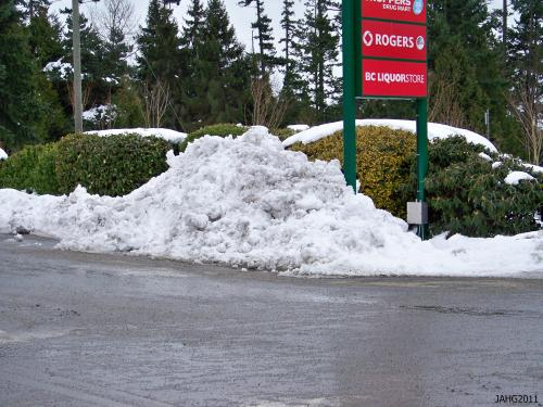 I wonder how long it will take to melt this pile of snow?